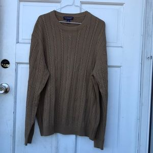 Roundtree & Yorke Cable Knit Crew Neck Sweater L